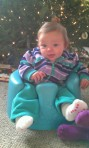 And starting to sit up in the Bumbo.