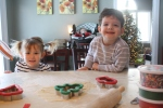 making cookies with her buddy, Jack.  Then we went to a holiday sing-a-long!