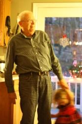 Willa dancing with Grandpere