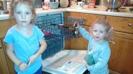 "unloading the dishwasher- ""helping"""