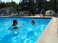 Willa swimming!