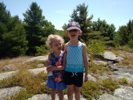 blueberry picking on the trail