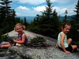 Girls built a fairy house off the beaten path at the top...