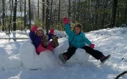 snow princesses on their thrones